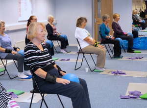 Use it or lose it! Osteoporosis-friendly Pilates class in action!